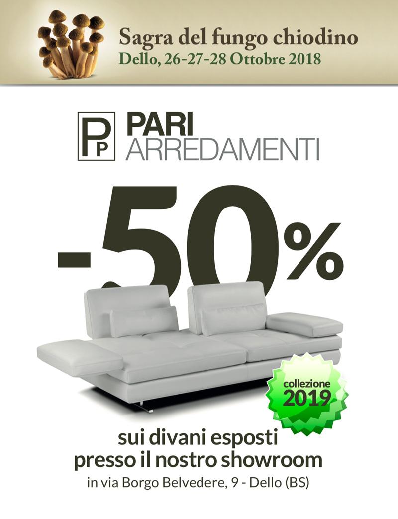 50% sui divani esposti presso lo showroom   Pari Arredamenti ...